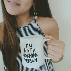 """im not a morning person"" forever 21 mug @forever21"
