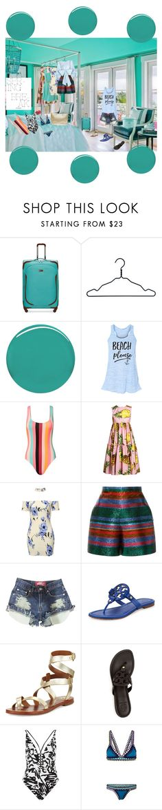 """""""Copacabana"""" by scope-stilettos ❤ liked on Polyvore featuring Ellen Tracy, Nomess, Burberry, Solid & Striped, Chanel, Dolce&Gabbana, Delpozo, Tory Burch, River Island and kiini"""