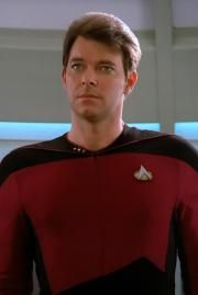 Commander Will Riker - Star Trek: the next generation~I loved when he smiled and his eyes would twinkle.