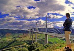 Viaduc de Millau - Bruecke von Millau, Region Midi-Pyrénées. Languedoc-Roussilon (France)