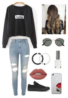 """Untitled #252"" by britney-pitts ❤ liked on Polyvore featuring River Island, Converse, Lime Crime, Lokai, Ray-Ban and Topshop"