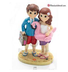 Figura Novios Viajeros Playeros Luigi, Smurfs, Character, Wedding Gifts, Hilarious, Boyfriends, Lettering