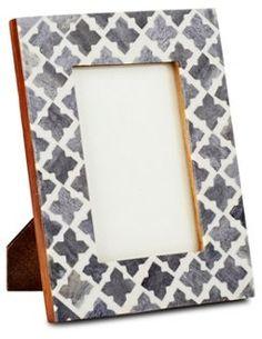 Trellis Moderne Frame, 4x6, Blue/Gray