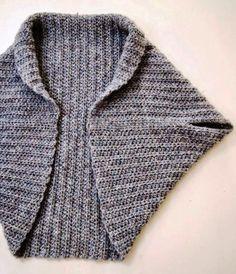 Basic Shrug Pattern - How Lovely! Basic Shrug Pattern – How Lovely! - Loom Knit Central Basic Shrug Pattern - How Lovely! Basic Shrug Pattern – How Lovely! Shrug Knitting Pattern, Knit Shrug, Loom Knitting, Knitting Patterns Free, Knit Patterns, Free Knitting, Knit Cardigan, Kimono Pattern Free, Bolero Pattern