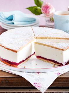 Keine #Sahnetorte ist so beliebt wie die Käse-Sahne-Torte. Das beste Rezept findest du hier. #käsesahnetorte #torte