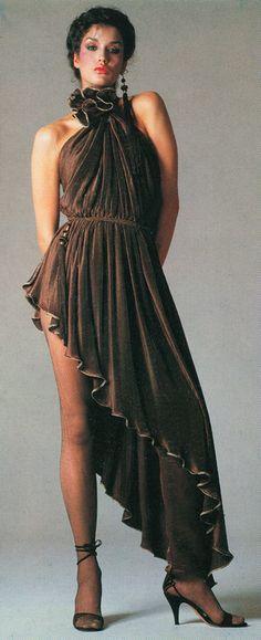 Janice Dickinson for Gianni Versace 1980