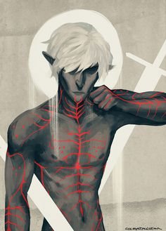cccrystalclear:  Tainted lyrium etched into his skin