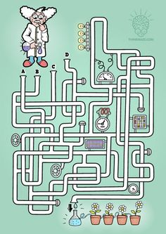When was the last time you solved a maze? Printable Mazes, Printable Activities For Kids, Preschool Education, Classroom Activities, Find The Differences Games, Test For Kids, Preschool Pictures, Fall Words, Maze Design