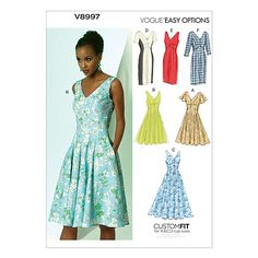 Buy Vogue Women's Dresses Sewing Pattern, 8997 Online at johnlewis.com