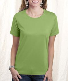 LA T Ladies' Combed Ring-Spun T-Shirt 3580 Apple