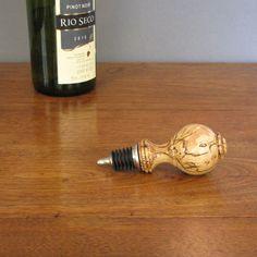 Etsy listing at https://www.etsy.com/listing/215639376/spalted-maple-wood-wine-bottle-stopper