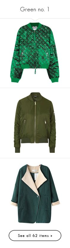 """Green no. 1"" by camillaermitnavn on Polyvore featuring outfit, GREEN, collection, sets, outerwear, jackets, bomber jacket, crepe jacket, bomber style jacket and green jacket"