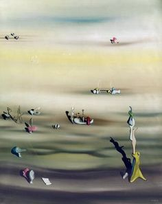 Yves Tanguy , L'Extinction des espèces II Surrealism Painting, Painting Collage, Paintings, Museum Of Modern Art, Art Museum, Yves Tanguy, Japanese Prints, Magazine Art, Sculpture