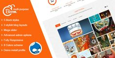 Boom - Multi-Purpose Drupal Theme . Boom has features such as High Resolution: Yes, Compatible Browsers: IE8, IE9, IE10, IE11, Firefox, Safari, Opera, Chrome, Software Version: Drupal 7.4x, Drupal 7.3x, Drupal 7.2x, Drupal 7.1, Drupal 7.0, Columns: 2