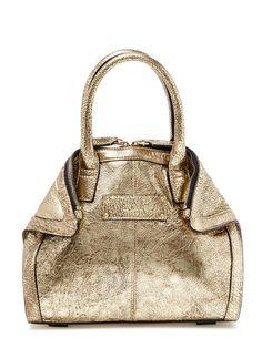 De Manta Metallic Leather Small Convertible Tote by Alexander McQueen at Gilt