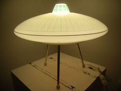 "danismm: ""UFO Table lamp 1950 space age """