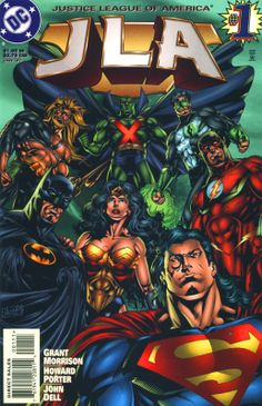 The Justice League was never better than in JLA by Grant Morrison and Howard Porter. I had this poster in my wall!