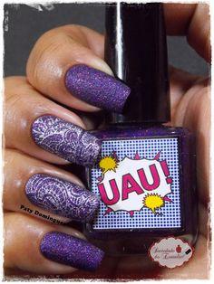 UAU! - DRK Nails carimbado com SG-06 #esmaltadasdapatydomingues #liquidsand  #carimbada #drknails
