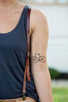 tattoo bike - Bedrooms For Girls Cycling Tattoo, Bicycle Tattoo, Bike Tattoos, Tribal Tattoos, Tatoos, Cross Tattoos, Custom Temporary Tattoos, Custom Tattoo, Tatuagem New School