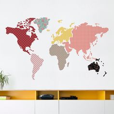 Have a massive wall to decorate? Find a design fitting for its size with this larger-than-life collection.Installed dimension, as shown: 85 in x 52 in Wall Decor Stickers, Wall Decals, Wall Art, Loving U, Playroom, Adhesive, Interior Decorating, Wallpaper, Design