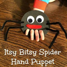 Itsy Bitsy Spider Finger Puppet for Fine Motor Play - Nursery rhyme crafts Nursery rhymes activities Rhyming activities Toddler crafts Nursery rhymes preschool Crafts - Nursery Rhyme Crafts, Nursery Rhymes Preschool, Preschool Crafts, Kids Crafts, Spider Art Preschool, Crafts With Toddlers, Toddler Arts And Crafts, Rhyming Activities, Toddler Activities