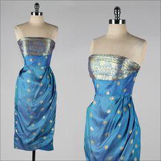 vintage 1950s dress . silk sarong style by millstreetvintage, $155.00