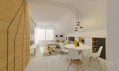 Attic Apartment, Apartment Design, Design Projects, Dining Table, Interior Design, Furniture, Home Decor, Nest Design, Decoration Home