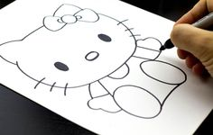 """How To Draw Hello Kitty and a large variety of other """"How to Draw..."""" posts, Painting, Sculpting, & Drawing posts. ART FOR KIDS!"""