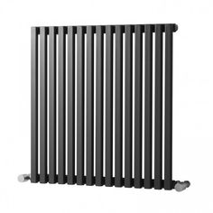 Oxfordshire Horizontal Single Panel Radiator Belfry Heating Size: H x W x D, Finish: Gun Metal Tall Radiators, Flat Panel Radiators, Column Radiators, Large Radiator Covers, Diy Radiator Cover, Horizontal Designer Radiators, Vertical Radiators, Chrome Towel Rail, Electric Radiators