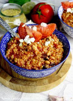 KASZA BULGUR Z KURCZAKIEM W SOSIE POMIDOROWYM Good Food, Yummy Food, C'est Bon, Chana Masala, Food And Drink, Vegan, Cooking, Ethnic Recipes, Fitness