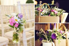 Beautiful wedding flowers at Laughton Barns.  Creative wedding photography in Sussex by http://www.dennisonstudios.com
