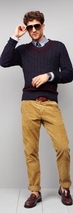 Outfit by tommy hilfiger fall. oscar franco · fashion for male teachers Fashion Moda, Look Fashion, Autumn Fashion, Mens Fashion, Guy Fashion, Preppy Mode, Preppy Style, Sharp Dressed Man, Well Dressed Men