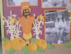 cricut, fall, autumn, scarecrow, cricut expression, fall layout, scrapbooking, diy, scrapbook, layouts, handmade, homemade,