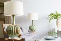 James Table Lamp, Celadon