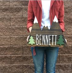 Woodland Nursery + Mountains Wood Sign + Home Decor + Custom Wood Sign + Explore Mountains + Nursery Decor + Baby Shower Gift + Cabin Decor by mycoppercactushome on Etsy https://www.etsy.com/listing/585304537/woodland-nursery-mountains-wood-sign