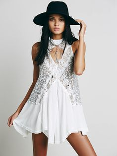 Cross My Heart in Lace Tunic at Free People Clothing Boutique