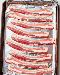How To Make Perfect Bacon in the Oven — Cooking Lessons from The Kitchn Sourdough Bread Machine, Sourdough Bread Starter, Bacon Wrapped Appetizers, Bacon Wrapped Shrimp, Oven Cooked Bacon, Bacon In The Oven, Bacon Recipes Homemade, Meat Recipes, Recipies