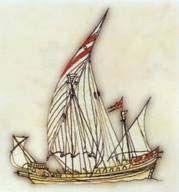 Karamürsel Bey'in o zaman yaptığı, bir buçuk direkli ve güvertesiz tekne (Marmara kayıkları)