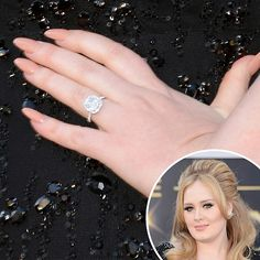 Adele chose lengthy tips, which she polished a nude hue for the Academy Awards. See all the awards season manicures here: