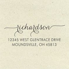 custom address stamp hand lettered address stamp address stamp