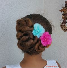 Rope twisted updo