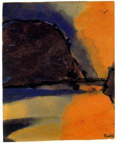 Emil Nolde - Brown Mountain on a Lake