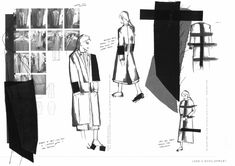 Fashion Sketchbook - fashion sketches & fabrics; fashion student portfolio // Sarah Grose