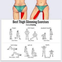 Best Thigh Exercises, Knee Fat, Make Up Braut, Side Lunges, Butt Workout, Fett, Workout Videos, Workout Tips, Squats
