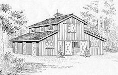 StableWise Gallery - Austin five stall barn illustration