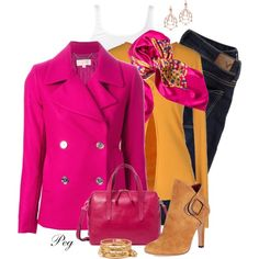 Hot Pink by derniers on Polyvore featuring moda, Jei O', James Perse, MICHAEL Michael Kors, American Eagle Outfitters, AERIN, FOSSIL, Forever 21 and Chanel