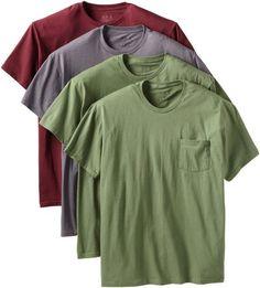 Fruit of the Loom Men's Big 4 Pack Pocket T-Shirt, Assorted, 3X-Large