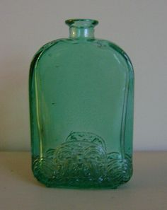Ireland Green Glass Vase by BellasChicCollezione on Etsy, $30.00