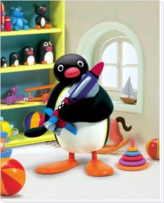 Pingu - a TV show my husband watched as a child.