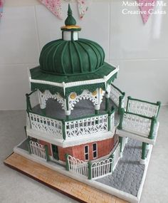 Brighton Bandstand Romantic Engagement - Cake by Mother and Me Creative Cakes